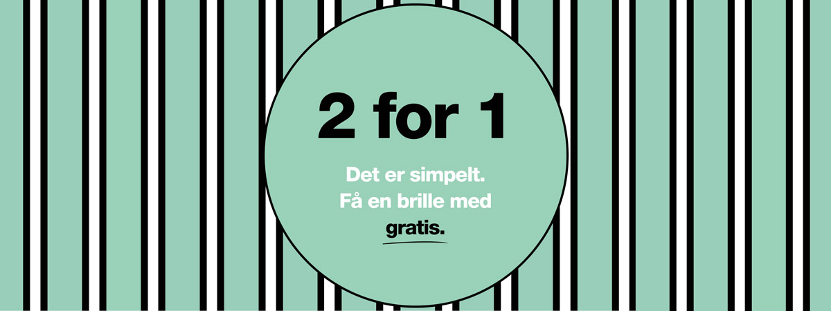 striber 2 for 1 alle briller