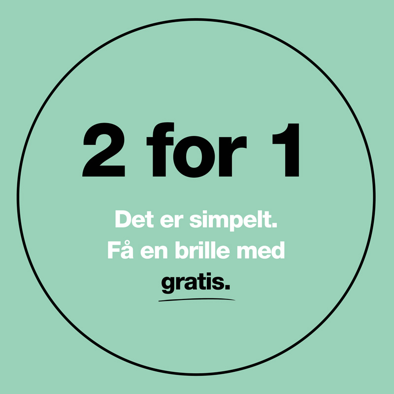 crosseyes 2 for 1 på alle briller gratis